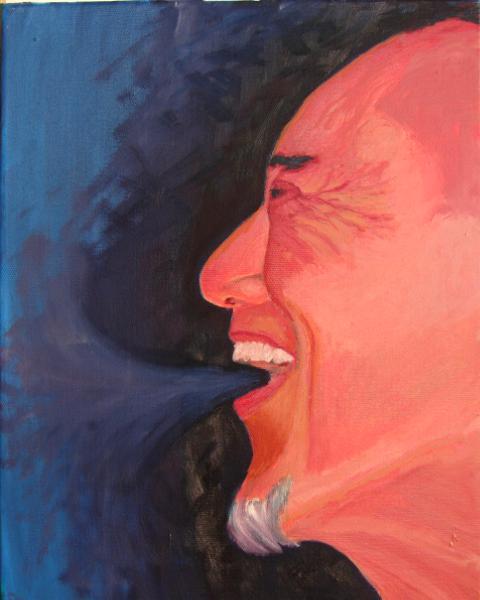 Self-portrait #5 exhale!