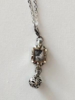 """18"""" silver Vintage Watch Locket necklace"""