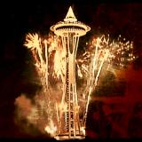 Space Needle New Year Fireworks