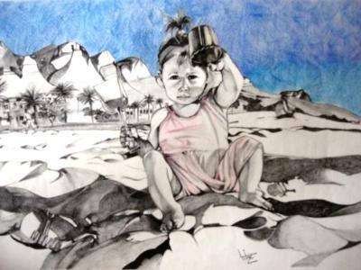 Clifton Beach - Pencil