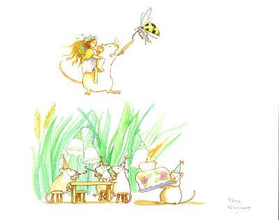 Mice in various activities