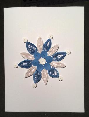 Snowflake quilled greeting card