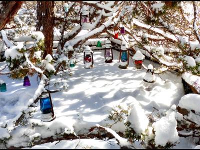 Snow Solar Lanterns