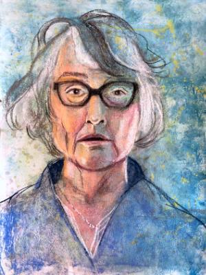 Self-Portrait in Pastel