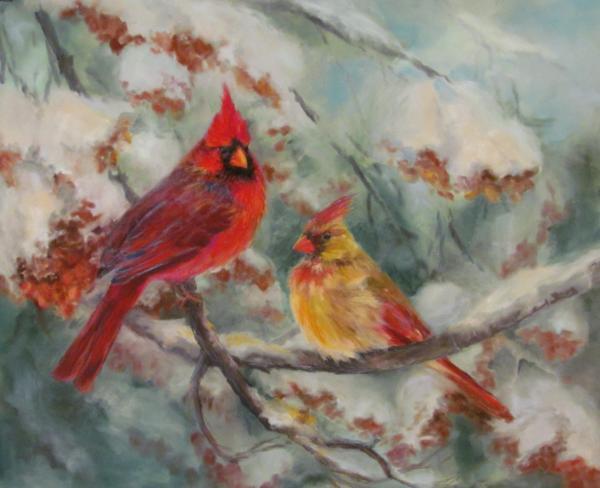 Cardinals in Wintertime