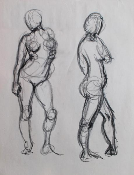 Standing female gestures