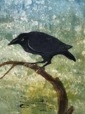 Black Bird (mono print)