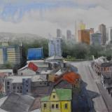 Plein air watercolor painting in Quito - ECUADOR, 38cm x 28cm, 2021