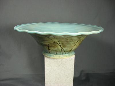 110109.C Fluted Bowl with Wheat