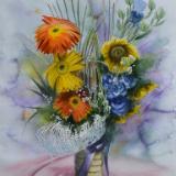 Bouquet of flowers, 35cm x 50cm, 2019