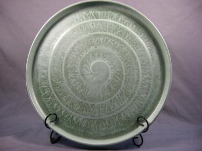 Platter with Spiral Design