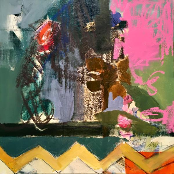 18x18 Acrylic/Oil on canvas