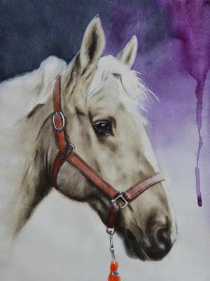 The beauty of the Orlov Trotter Horse, 35cm x 50cm, 2019