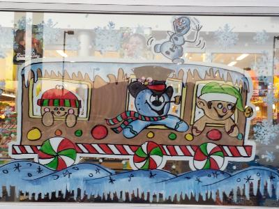 Snowman train