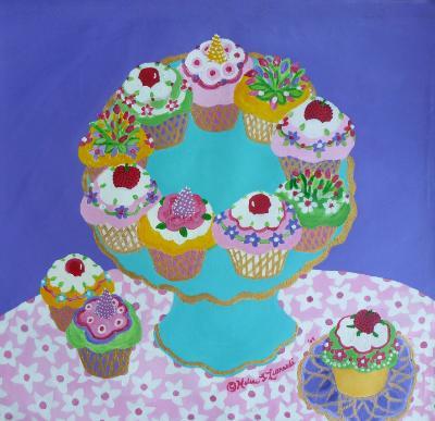 Pastel Cupcake Platter