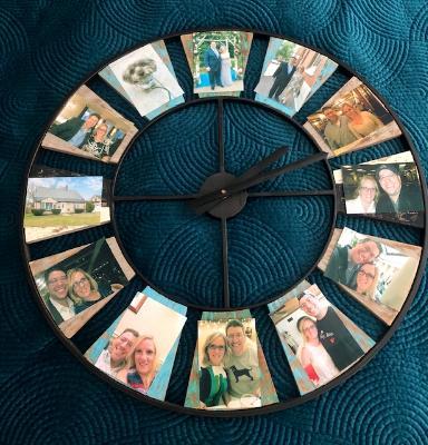 Selfie Clock for Jamie & Chris Ann