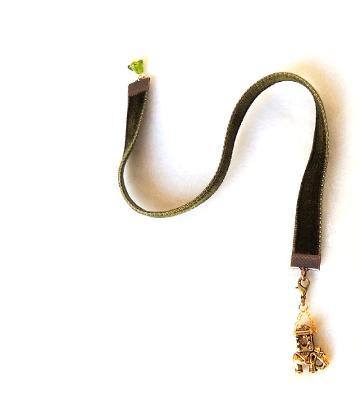 elephant book charm velvet bookmark