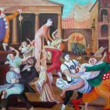 Rape of the Sabine Women by Clowns