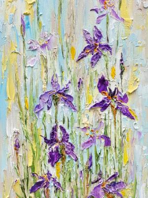 Purple Iris 2 (sold)