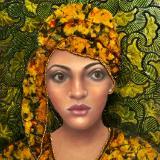 Patterned Pastel Portraits Series