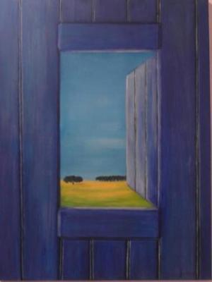 Blue Door onto the Alentejo countryside