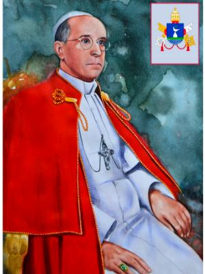 Custom portrait of Pope PIUS XII, 80cm x 60cm, 2016