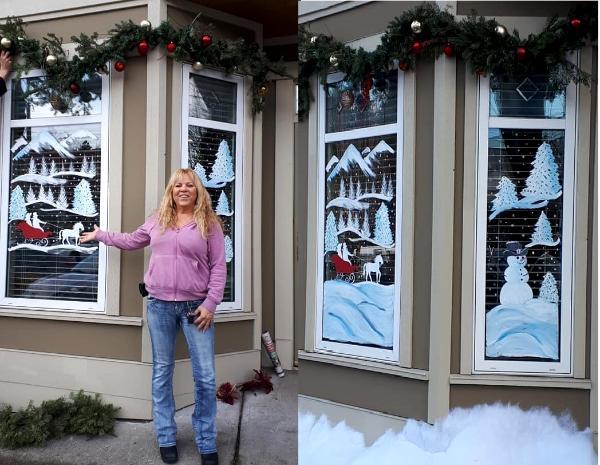 Christmas hallmark movie window