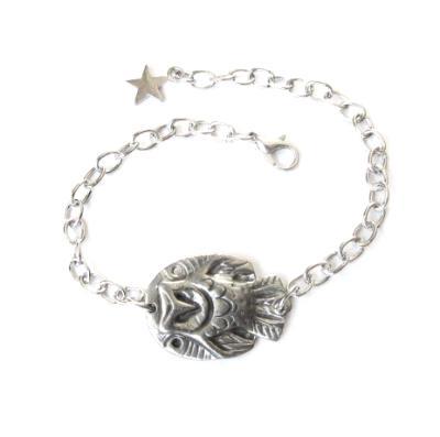 Owl bracelet barn owl bangle from an artisan design