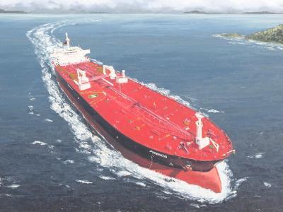 """Ecuadorian oil carrier """"Pichincha"""", 120cm x 60cm, 2013"""