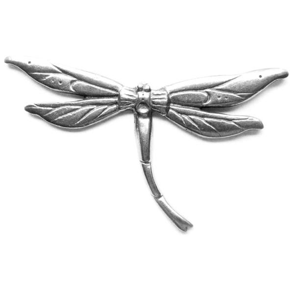 Dragonfly brooch Art Nouveau design, handcrafted by Liza Paizis