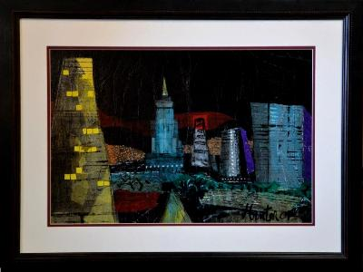 Collage - Cityscape at night