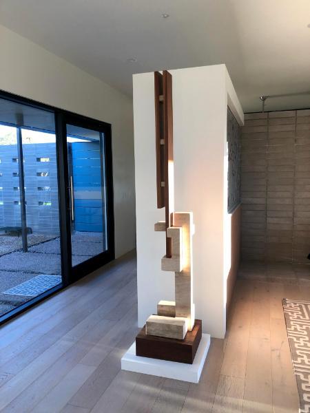 Stone/wood sculpture, Phoenix AZ
