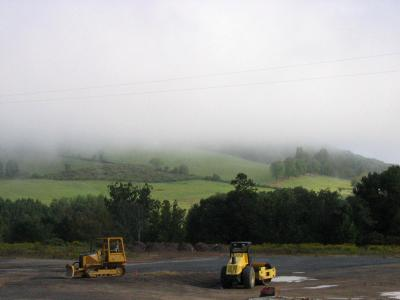 Tractors in the Mist