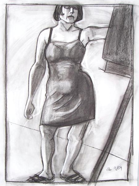 Self-Portrait with Easel