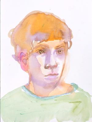 James, Watercolor Portrait