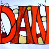 Custom Stained Glass Names & Initials