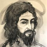 Jesus with Curly Beard