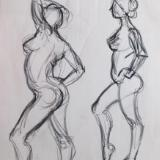 Standing Female Nudes (tiptoe)