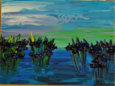 SOLD Out of the Water Series 9 x 12 Acrylic on Canvas board Embellished prints available