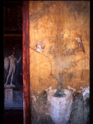 Mars and white urn - House of Venus on the Shell, Pompeii