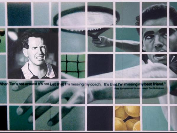 Pete Sampras Mural