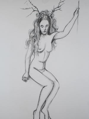 Elka, with Headdress