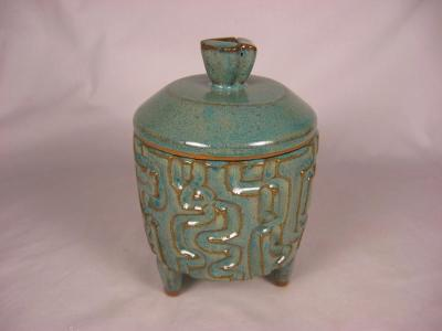 110814.C Covered Hand-Carved Jewelry Box