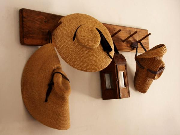 Straw Hats and Lantern