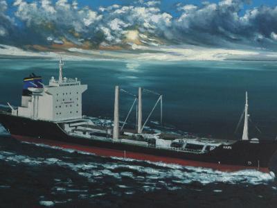 "Ecuadoarian oil carrier ""Napo"", 120cm x 60cm, 2013"
