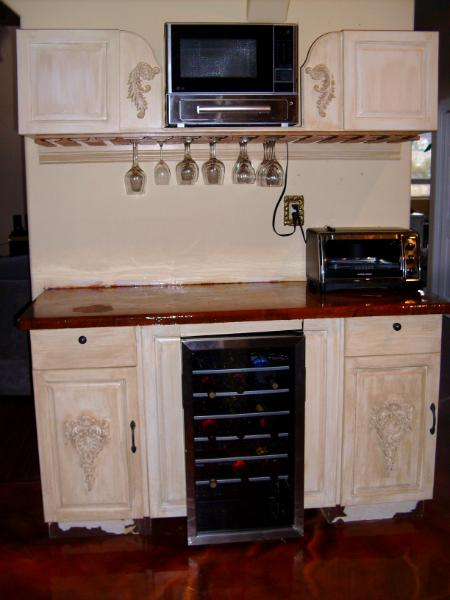 Wine Glass Rack Amp Microwave Cabinet Art Will Travel