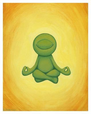 Meditating Kelly