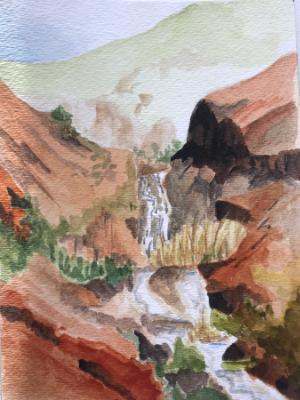 Waterfall in Cottonwood Creek, Lagunas