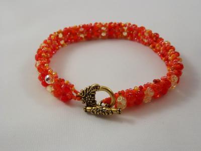 B-81 orange ombre chevron bracelet