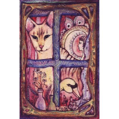 Oscar original cat painting